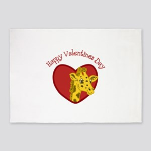 Happy Valentines Day 5'x7'Area Rug