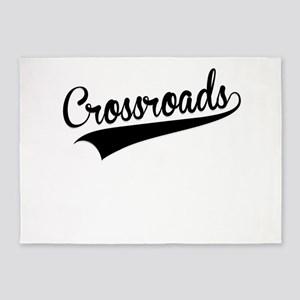 Crossroads, Retro, 5'x7'Area Rug