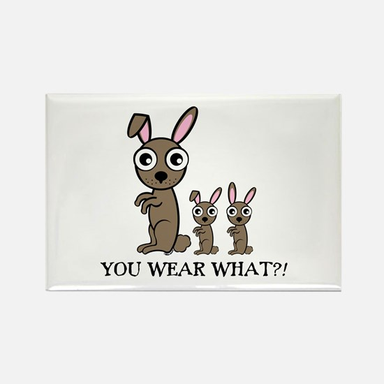 YOU WEAR WHAT RABBIT Rectangle Magnet