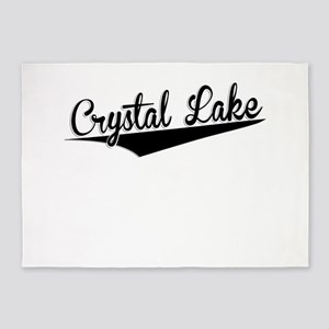 Crystal Lake, Retro, 5'x7'Area Rug