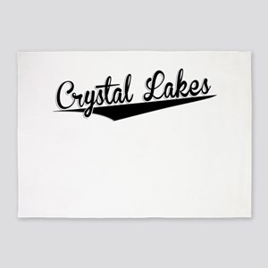 Crystal Lakes, Retro, 5'x7'Area Rug