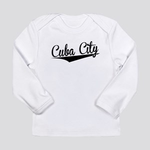 Cuba City, Retro, Long Sleeve T-Shirt