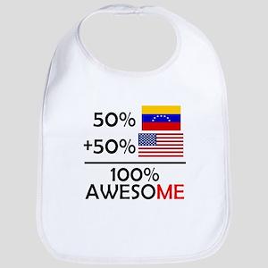Half Venezuela Half American Bib