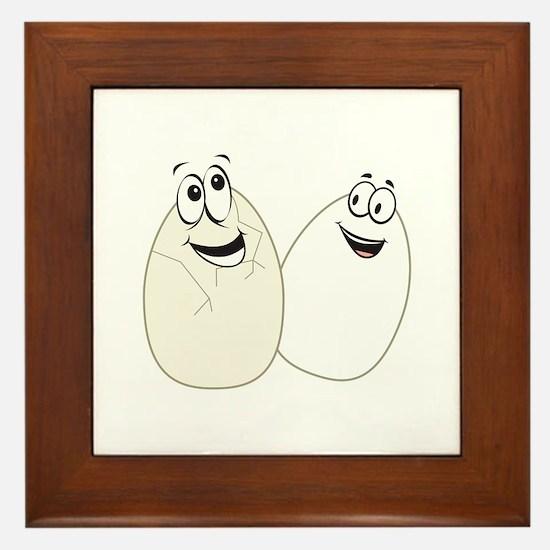 Two Eggs Framed Tile
