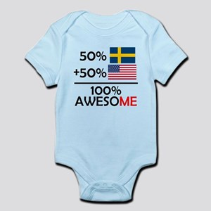 Half Swedish Half American Body Suit