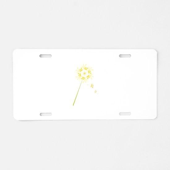 Dandelion Aluminum License Plate
