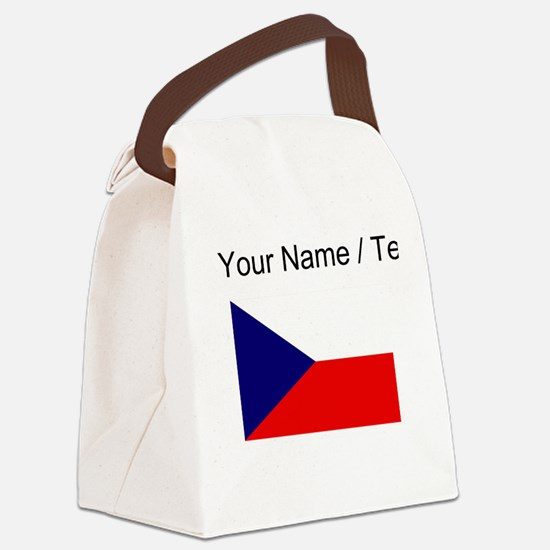 Custom Czech Republic Flag Canvas Lunch Bag