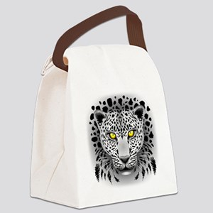 White Leopard with Yellow Eyes Canvas Lunch Bag