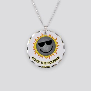 Dark Side Of sun Necklace Circle Charm