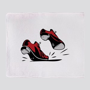 Tap Dancing Shoes Throw Blanket