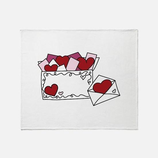 Valentine Love Letters Throw Blanket