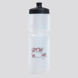Valentine Love Letters Sports Bottle