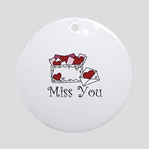 Miss You Ornament (Round)
