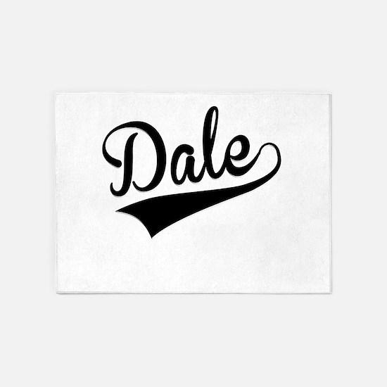 Dale, Retro, 5'x7'Area Rug