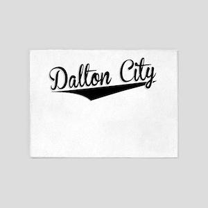Dalton City, Retro, 5'x7'Area Rug