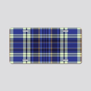 Blueberry Muffin Plaid Aluminum License Plate