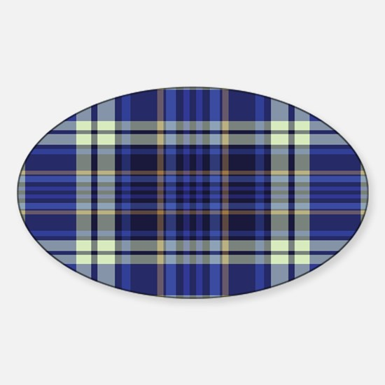 Blueberry Muffin Plaid Sticker (Oval)