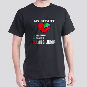 My Heart Friends, Family and Long jum Dark T-Shirt