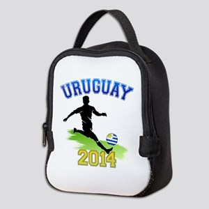 Soccer Uruguay Flag Neoprene Lunch Bag