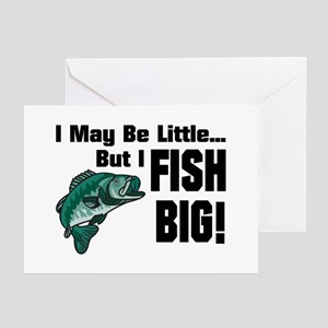 I Fish Big! Greeting Cards (Pk of 10)