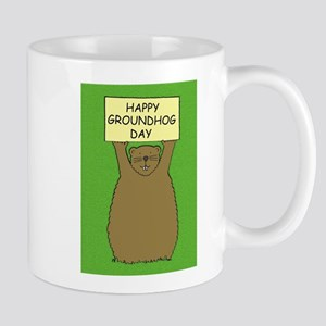 Happy Groundhog Day Mugs