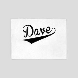 Dave, Retro, 5'x7'Area Rug