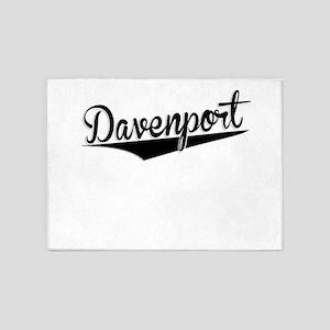 Davenport, Retro, 5'x7'Area Rug