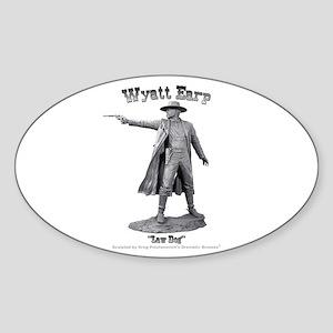 Wyatt Earp Oval Sticker