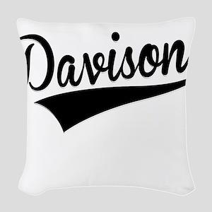 Davison, Retro, Woven Throw Pillow