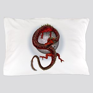 Fantasy Red Eastern Dragon Pillow Case