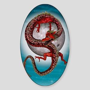 Fantasy Eastern Red Dragon Sticker