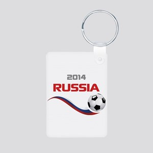 Soccer 2014 Russia Aluminum Photo Keychain