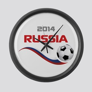 Soccer 2014 Russia Large Wall Clock