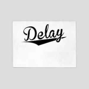 Delay, Retro, 5'x7'Area Rug