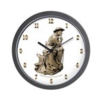 Cowboy Thinker Wall Clock