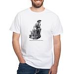 Cowboy Thinker White T-Shirt