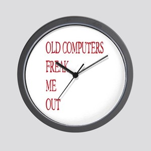 Old Computers Freak Me Out 003 Wall Clock