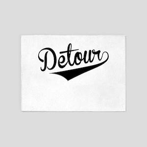 Detour, Retro, 5'x7'Area Rug
