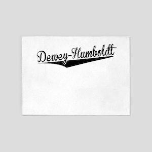Dewey-Humboldt, Retro, 5'x7'Area Rug