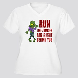 Run Zombies Behind You Plus Size T-Shirt