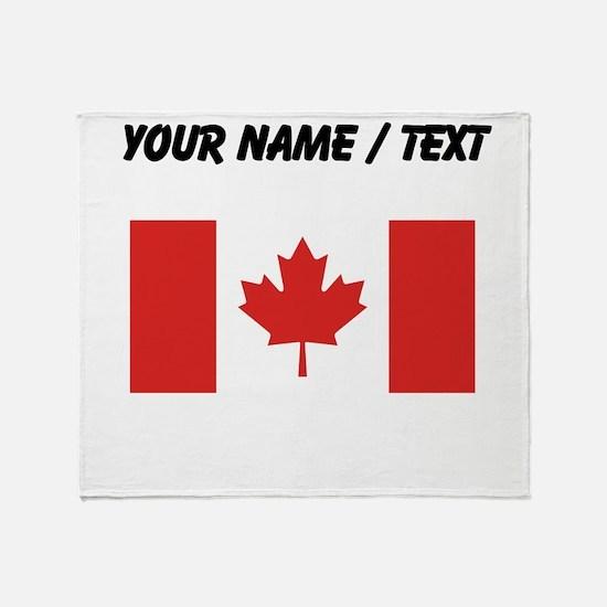 Custom Canada Flag Throw Blanket