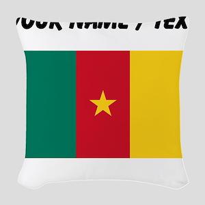 Custom Cameroon Flag Woven Throw Pillow