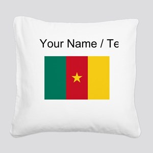 Custom Cameroon Flag Square Canvas Pillow