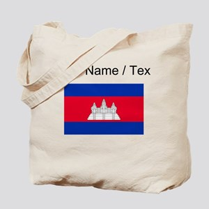 Custom Cambodia Flag Tote Bag