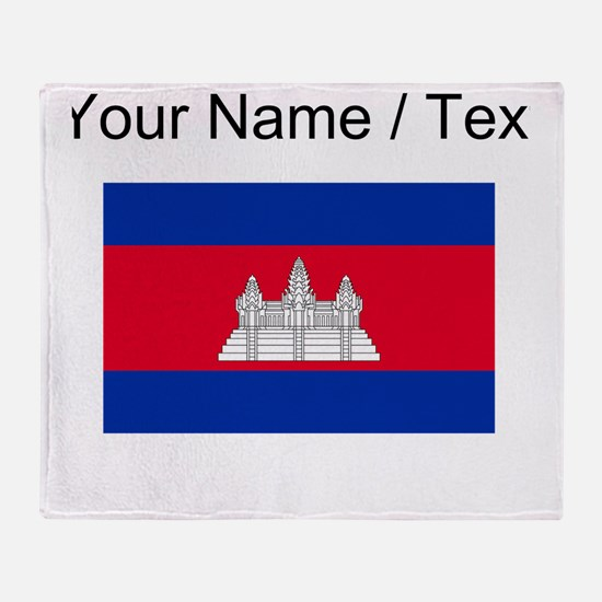 Custom Cambodia Flag Throw Blanket
