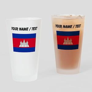 Custom Cambodia Flag Drinking Glass