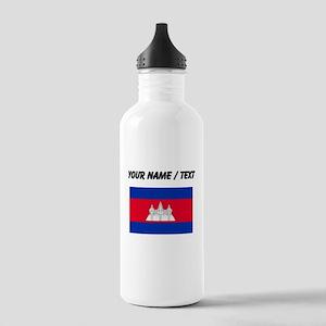 Custom Cambodia Flag Water Bottle