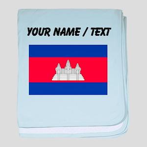 Custom Cambodia Flag baby blanket