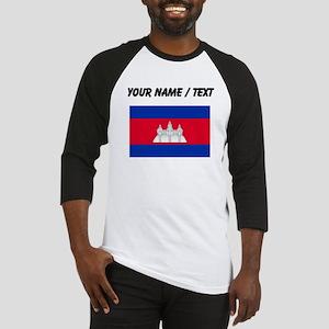 Custom Cambodia Flag Baseball Jersey