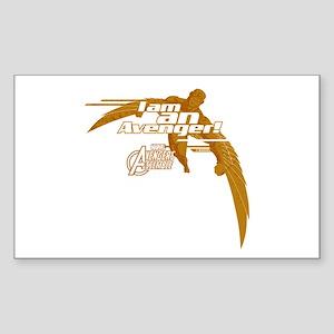 Falcon Avenger Sticker (Rectangle)